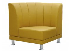 Модуль-3 угловое кресло Блюз 10-09 жёлтое