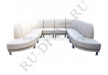 Модульный п-образный диван Блюз 10-09