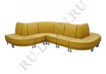 Зигзагообразный диван Блюз 10-09 модульный цвет желтый