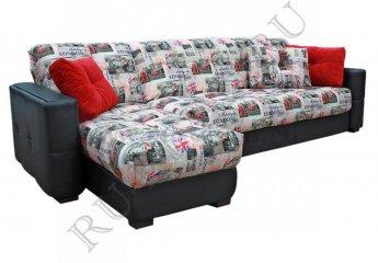Угловой диван Тахко фото 1 цвет черный