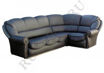 Угловой диван Луиза фото 1 цвет черный