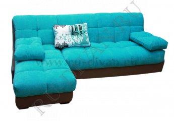Угловой диван Тахко с узкими подлокотниками фото 1 цвет голубой