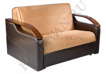 Диван Бизон аккордеон – характеристики фото 1 цвет коричневый
