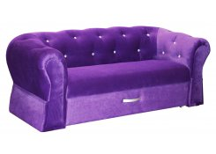 Двухместный диван Гламур (Фиолетовый)