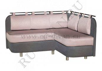 Угловой диван для кухни Лагуна-2 фото 1 цвета: фиолетовый, серый