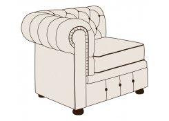 Модуль кресло Честерфилд с одним подлокотником описание, фото, выбор ткани или обивки, цены, характеристики