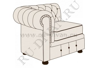 Модуль кресло Честерфилд с одним подлокотником фото 1