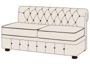 Двухместный диван Честерфилд без подлокотников