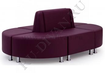 Диван Кафе модульный фото 1 цвет фиолетовый
