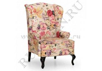 Кресло английское с ушами – характеристики фото 1 цвет розовый