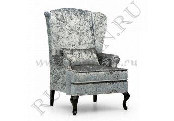 Кресло английское с ушами фото 1 цвет серый