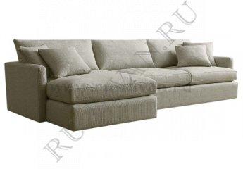 Угловой диван Стелф с оттоманкой фото 1 цвет бежевый