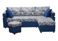 Угловой диван Версаль (Синий)