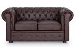 Прямой диван Честерфилд (Коричневый)