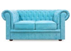 Прямой диван Честерфилд (Голубой)