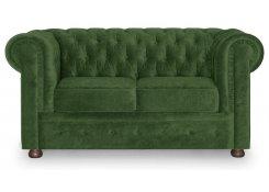 Прямой диван Честерфилд (Зеленый)