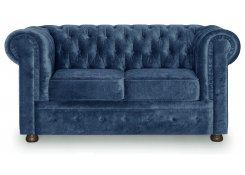 Прямой диван Честерфилд (Синий)