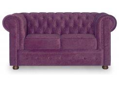 Прямой диван Честерфилд (Фиолетовый)