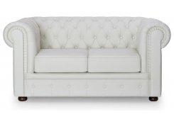 Прямой диван Честерфилд (Белый)