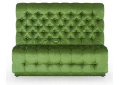 Диван С каретной стяжкой (Зеленый)