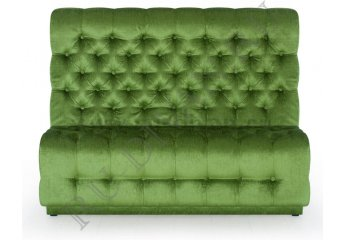 Диван с каретной стяжкой фото 1 цвет зеленый