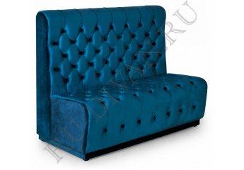 Диван с каретной стяжкой – характеристики фото 1 цвет синий