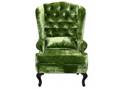 Каминное кресло с ушами (Зеленый)