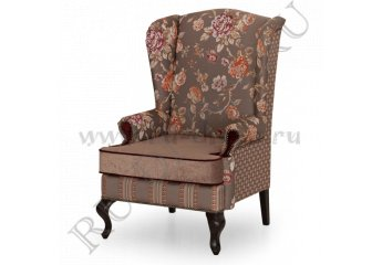 Кресло Пэчворк Аристократ фото 1 цвет коричневый