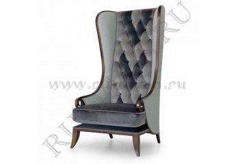 Кресло Пэчворк Виктория фото 1 цвет серый