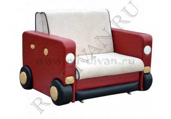 Диван Авто-1 детский – доставка фото 1 цвета: бежевый, красный