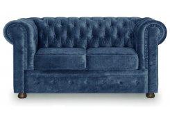 Прямой диван Честер (Синий)