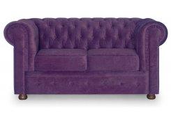 Прямой диван Честер (Фиолетовый)