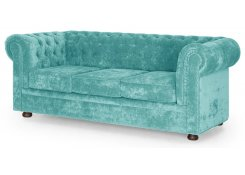 Прямой диван Честер М (Голубой)