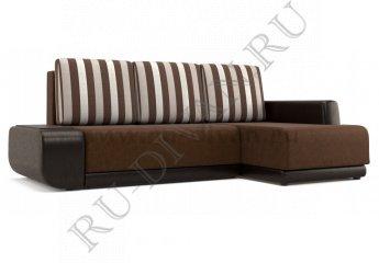 Угловой диван Соло фото 1 цвет коричневый