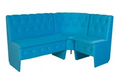 Голубые угловые диваны
