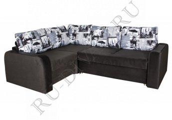 Угловой диван Амадей – доставка фото 1 цвет черный