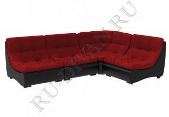 Диван Монреаль модульный фото 1 цвета: красный, черный