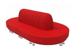 Модульный диван Блюз 10-09 (Красный)