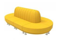 Модульный диван Блюз 10-09 (Желтый)