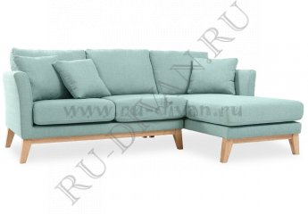 Угловой диван Дублин фото 1 цвет голубой