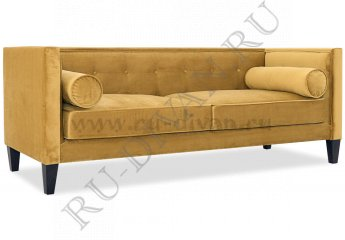 Прямой диван Довиль – доставка фото 1 цвет желтый