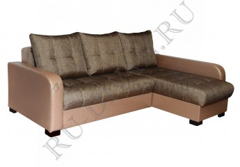 Угловой диван Премьер-3 Люкс фото 1 цвет коричневый