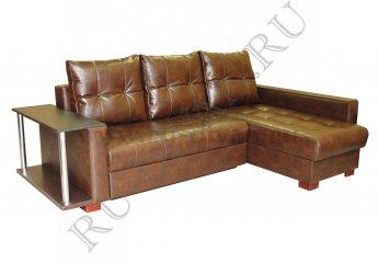 Угловой диван Премьер-3 Люкс со столиком фото 1 цвет коричневый