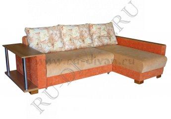Угловой диван Премьер-3 со столиком фото 1 цвет оранжевый
