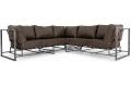 Угловой диван Лофт фото 1 цвет коричневый