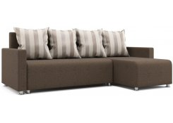 Угловой диван-еврокнижка Каир (Коричневый)