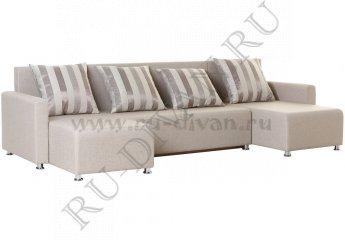 Угловой диван-еврокнижка Олимп фото 1 цвет бежевый