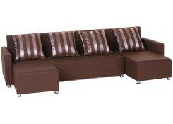 Угловой диван-еврокнижка Олимп (Коричневый)