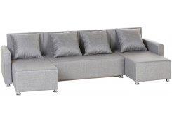 Угловой диван-еврокнижка Олимп (Серый)