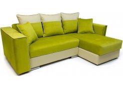 Угловой диван-еврокнижка Айрон (Зеленый)